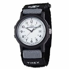 Timex T49713 Mens Water Resistant Velcro Strap Camper Analogue Watch New