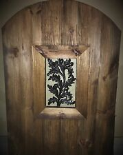 Wood gate Window,Wrought Iron Acorn Pattern, door steel insert, entry panel