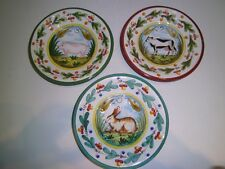 FATTO A MANO Plates Italy Rooster Wall Hanging Wall Art Pottery 3 Cow Pig Rabbit