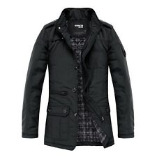 Mens Jacket Black Military Warm Winter Casual Coat Fashion Overcoat Outwear