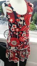 Funk Rock tunic dress Size S - 8 summer dress - FREE P&P
