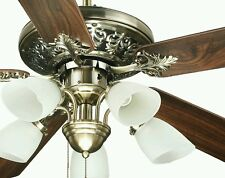 OCEAN LAMP S-OL52016 STUNNING CEILING FAN W/LIGHTS, REVERSIBLE BLADES & REMOTE