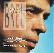 JACQUES BREL - Quinze Ans d'Amour NM 2000? Barclay Canada