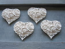 FOUR SHABYCHIC VITAGE LOVE  HEARTS ROSES/ OPAQUES/ MOULDINGS/PROJECT