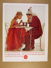 1963 Coke Coca-Cola cute couple in costumes photo vintage print Ad
