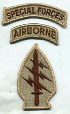US Army Special Forces DCU Desert Tan Patch W/Airborne & Special Forces Tabs