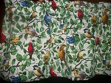 Blue Jay Cardinal Backyard Birds fabric topper curtain Valance