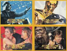 STAR WARS TRILOGY SPECIAL EDITION 1997 TV WEEK AUSTRALIA SET OF 4 PROMO CARDS
