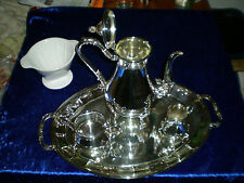 Kaffeeservice versilbert Teeservice mit Tablett Tea coffee set Каффе служба