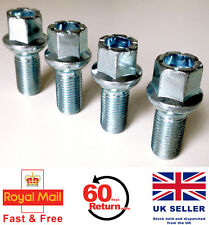 Audi A4 S4 RS4 alloy wheel bolts. M14 x 1.5, radius, 17mm Hex set of 4