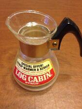 Corning Log cabin Syrup Warmer Pitcher Server 1 Pt Net