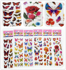 6 sheets Stickers lot Butterfly and flower kids Favor & Party Bag Fillers gift