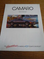 CHEVROLET CAMARO CAR BROCHURE 1989 jm