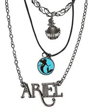 DISNEY THE LITTLE MERMAID PRINCESS ARIEL TATTOO CHOKER LAYERED NECKLACE SET NEW