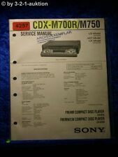 Sony Service Manual CDX M700R /M750 CD Player (#4257)