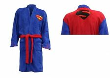 Superman Blue With Black Logo On Back One Size Bathrobe Brand New Gift
