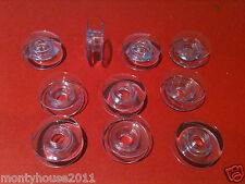 New!10 Clear Concave Bobbins For Husqvarna Viking Sewing Machine #412097545