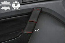 RED STITCH 2X FRONT DOOR HANDLE LEATHER COVERS FITS FORD RANGER 2012-2016