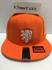 Nike Netherlands Core Cap Safety Orange Snapback Hat 728912 815 White Lion Crest