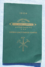 1904 HENRY CHENEY HAMMER CO. Tool Catalog - Little Falls, NY