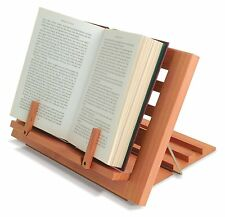 WOODEN READING REST Book Stand Display Holder For Cookery Music Books ect...
