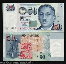SINGAPORE 50 DOLLARS 2012 THARMAN SIGN 1 or 2 TRIANGLE UNC GUITAR MISICAL ART BN