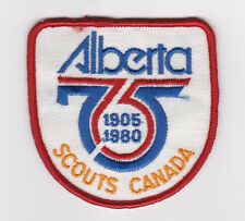 SCOUTS OF CANADA -  CANADIAN SCOUT ALBERTA (ALTA) PROVINCIAL 75 1905 1980 Patch
