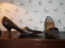 Yves Saint Laurent YSL Brown Leather Pumps size 40/9 3in heel Classic