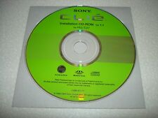 Sony Clie PEG-TJ27 Software Driver Installation CD-ROM