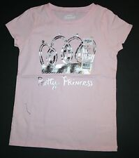 New OshKosh Pink Pretty Princess Sparkle Crown Short Sleeve Top Size 7 Year NWT
