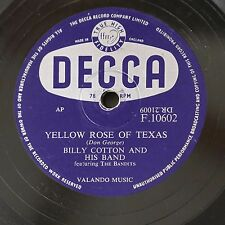 78rpm BILLY COTTON yellow rose of texas / domani