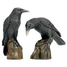 Raven Bird Statue Statuary Animal Figurine Sculpture Halloween Gothic Decor Art
