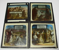 Lot11 - c1900 ARE YOU COMING HOME - 4 x HYMN SET ~ Glass Lantern Slides