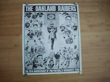 VINTAGE OAKLAND RAIDERS 20TH ANNIVERSARY POSTER 1979/80