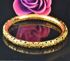 Women Girl Exquisite Gold Filled Hollow Bangle Bracelet Wedding Bride Jewelry