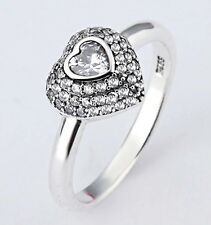 Brighton Silver Heart Stack Ring Sterling Silver .925 Size 8 With Pouch