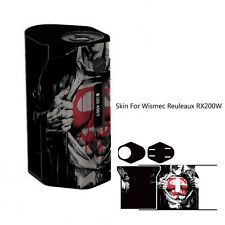 Wismec Reuleaux RX200 Mod vinyl Sticker Skin Wrap Cover Case Super Man