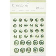 Kaiser Craft - Self Adhesive MINT Round Rhinestones 24 - 9mm & 10 - 14mm SB757