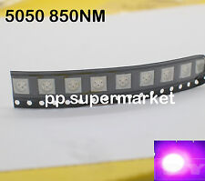 50pcs 5050 smd 850nm infrared emission of three-chip SMD LED Light DIY
