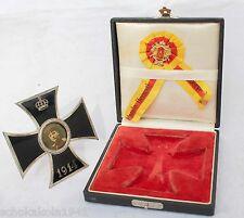 Iron Cross Eisernes Kreuz emaillierter Aufsteller im Etui und EK 1 Auflage
