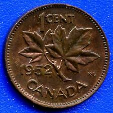 1952 Canada 1 Cent Coin