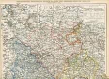 Westfalen Hessen-Nassau Hessen LANDKARTE von 1895 Rheinland Waldeck Lippe