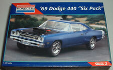 1969 Dodge Coronet SUPER BEE w 440 Six Pack Blue Metallic Plastic Model New 1995