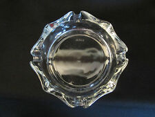Vtg Clear Glass Octagon Ashtray Mexica raised letters on the bottom.