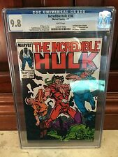 INCREDIBLE HULK #330 CGC 9.8 NM/MT TODD MCFARLANE ART BEGINS (ID 5031)