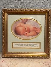 "Home and Garden Party ""One hundred years from now..""  wood framed baby picture"