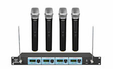NEW FOUR CHANNEL VHF Wireless Handheld Microphone MIC System UGX9Ⅱ