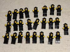 LEGO BRAND 25 Castle knight minifigures in armor - random black torsos.