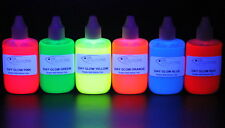FLUORESCENT DAY GLOW LIQUID SOFT PLASTIC COLOUR PIGMENTS