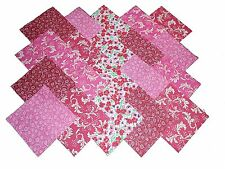 "40 5"" Quilting Fabric Squares PASSIONATE PINKS AND REDS/BUY IT NOW!!!"